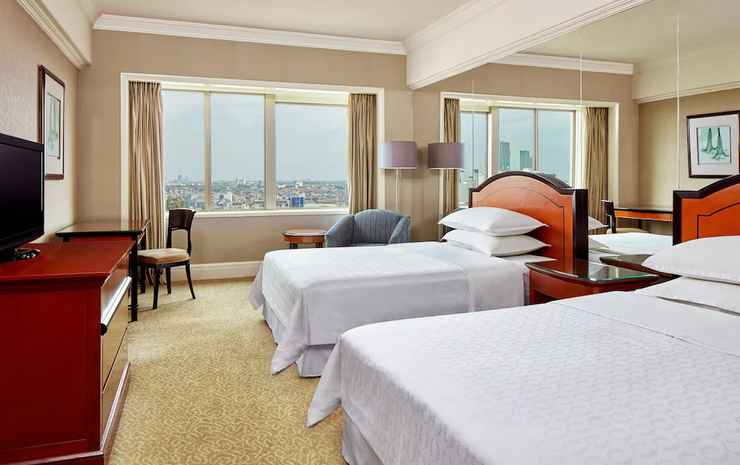 Sheraton Surabaya Hotel and Towers Surabaya - Kamar Deluks, 2 Tempat Tidur Double, pemandangan kota