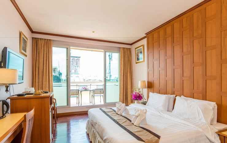 New Siam Riverside  Bangkok - Kamar Deluks, balkon, pemandangan kota