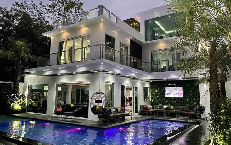 Hollywood Pool Villa Jomtien Pattaya Chonburi - Vila Grand, beberapa kamar, sauna, pemandangan kolam renang