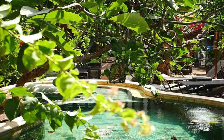Kalua Boutique Bungalows Lombok - Vila, 1 kamar tidur, pemandangan kolam renang, di pinggir kolam renang