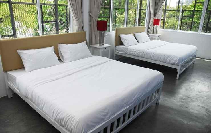 The Art Hostel Bangkok Bangkok - Kamar Double Keluarga, 2 Tempat Tidur Queen
