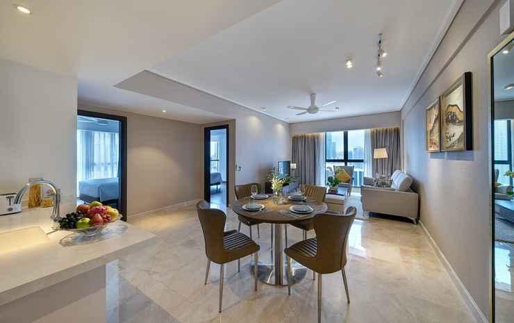 ARIVA Trillion Residences Kuala Lumpur - Apartemen Premier, 2 kamar tidur, dapur, pemandangan kota