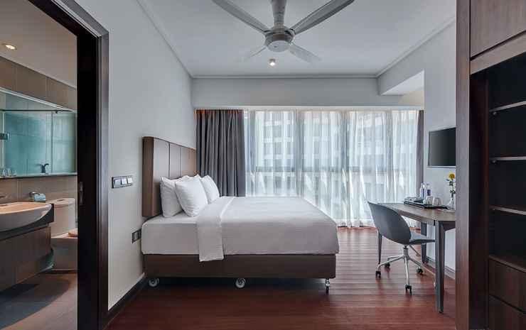 ARIVA Trillion Residences Kuala Lumpur - Kamar Double atau Twin Superior, kamar mandi pribadi, pemandangan gunung
