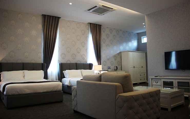 Casa Bianca Johor - Kamar Keluarga, 2 Tempat Tidur Queen, kamar mandi pribadi, pemandangan kebun