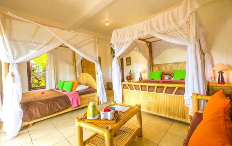 Great Mountain Views Bali - Kamar Triple Deluks, pemandangan gunung, area taman