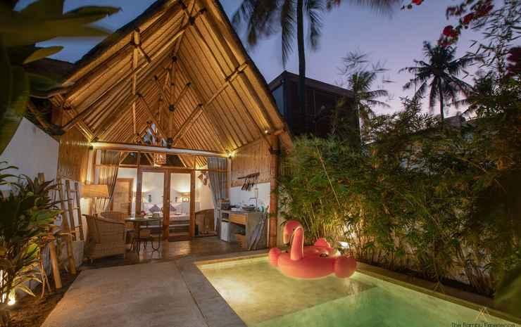 The Bambu Huts Lombok - Kamar Double Deluks, kolam renang pribadi