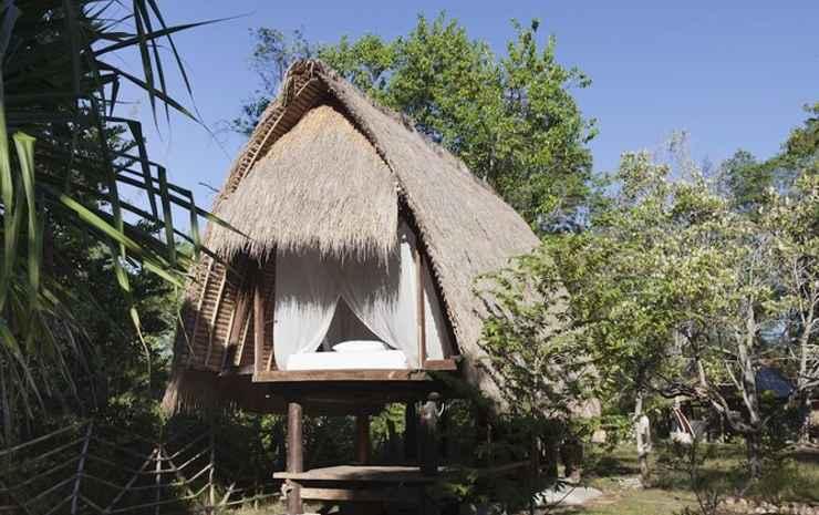 maoMeno Lombok - Bungalow, pemandangan kebun
