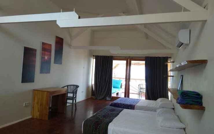 The Tree House Sumbawa - Hostel Dompu - Suite Keluarga, 2 Tempat Tidur Double, pemandangan pantai, menghadap pantai
