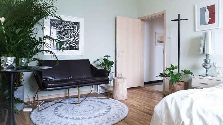 BEDROOM Cactus space- Sanlitun Artistic Elegance Apartment