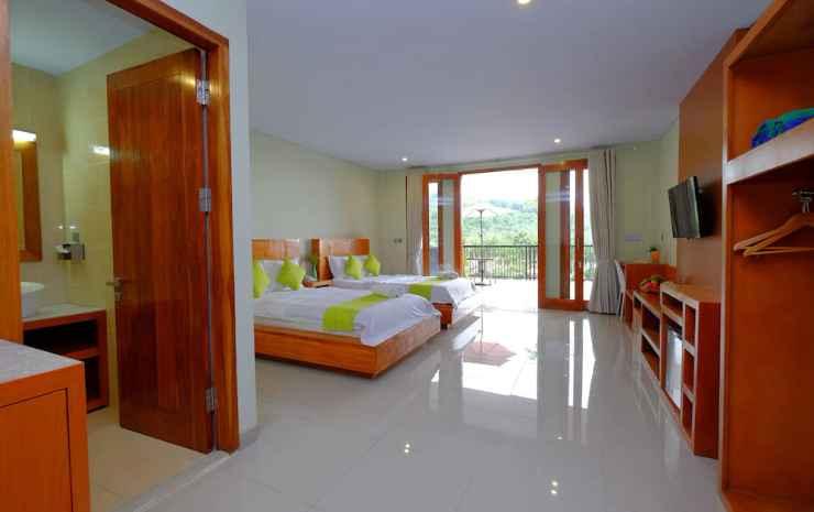 Villa Mataano Lombok - Kamar Twin Deluks, Beberapa Tempat Tidur, balkon, pemandangan gunung