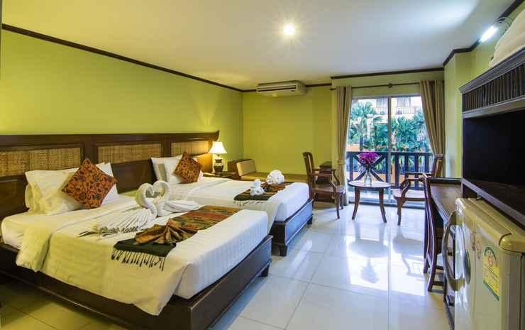 Phuphaya Resort Chonburi - Kamar Twin, 1 Tempat Tidur King, di pinggir kolam renang
