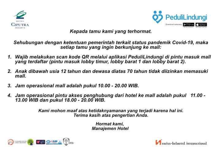 BEDROOM Hotel Ciputra Jakarta managed by Swiss-Belhotel International