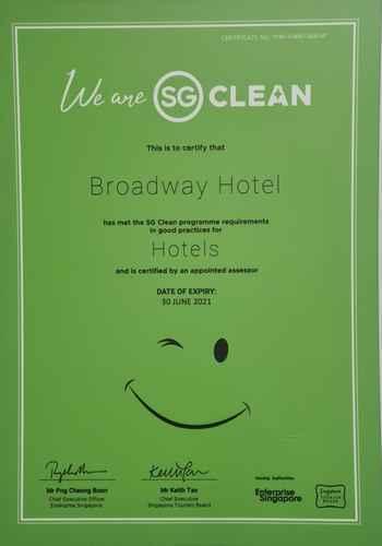 HYGIENE_FACILITY Broadway Hotel Singapore
