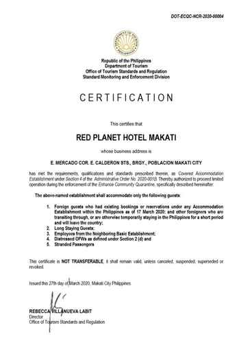 BEDROOM Red Planet Manila Makati-  For Quarantine Stays