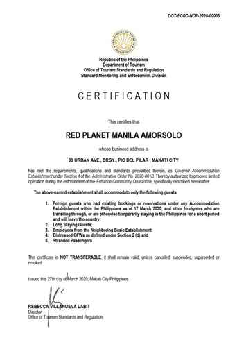 BEDROOM Red Planet Manila Amorsolo - For Quarantine Stays