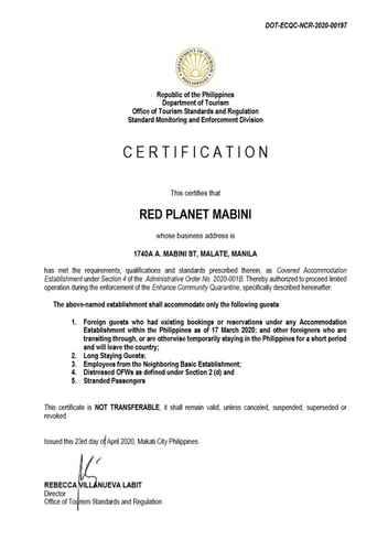 BEDROOM Red Planet Manila Mabini -  For Quarantine Stays