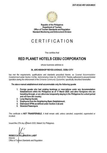 BEDROOM Red Planet Cebu