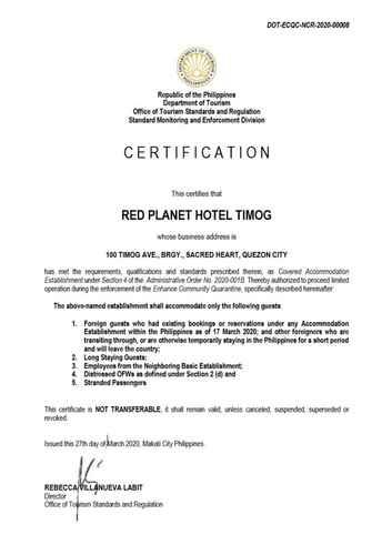 BEDROOM Red Planet Quezon Timog