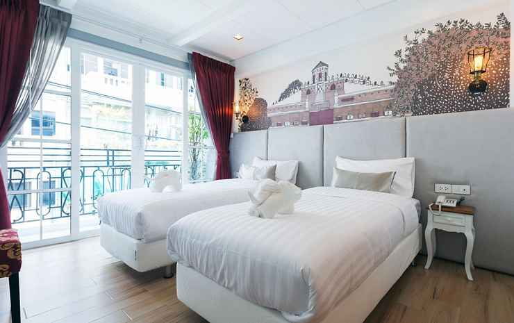 White Ivory Bed & Breakfast Bangkok - Deluxe Twin Room with Balcony RO