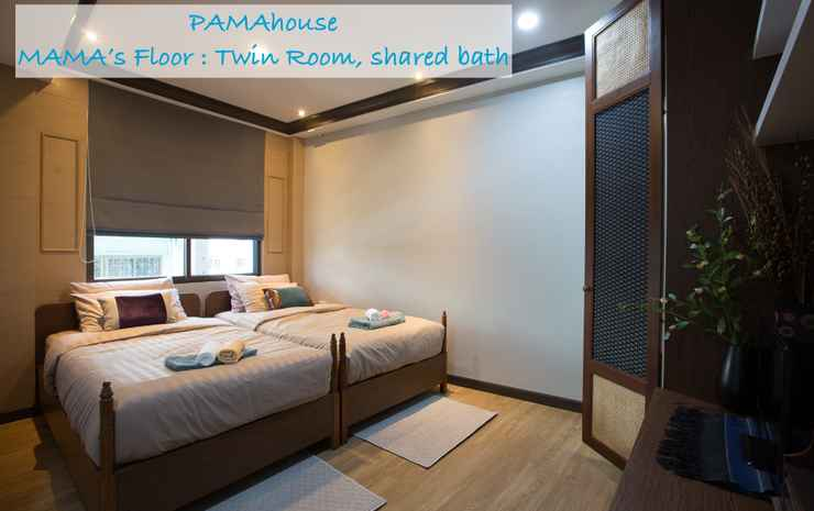 Pamahouse Boutique Hostel Bangkok - Twin Room with Shared Bathroom