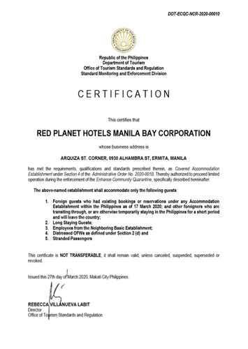 BEDROOM Red Planet Manila Bay -  For Quarantine Stays