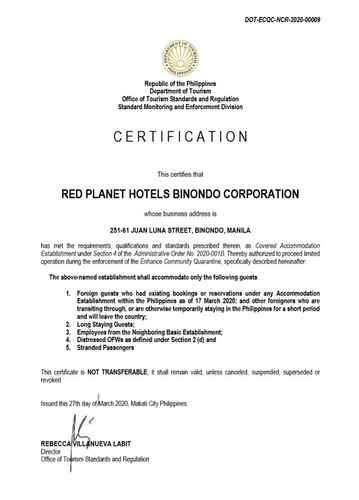 BEDROOM Red Planet Manila Binondo -  For Quarantine Stays
