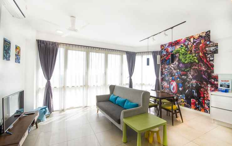Afiniti Residences by OKGOSTAY Johor - Deluxe One Bedroom Family Apartment