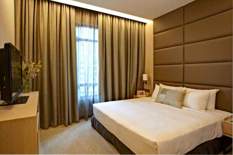 BEDROOM Great World Serviced Apartments