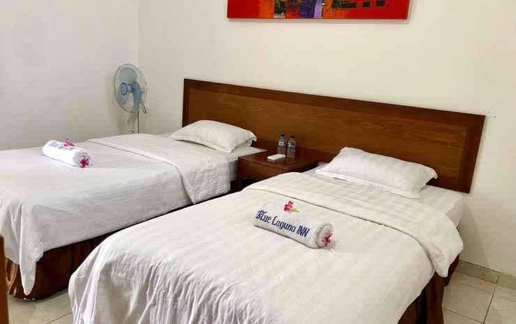 Blue Laguna Inn Jepara - Twin bed with terrace and partial sea view