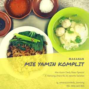 Mie Ayam Dedy (Free Delivery)