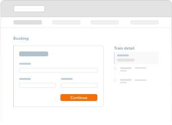 Fill in contact information and passenger details