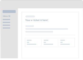 Receive e-ticket