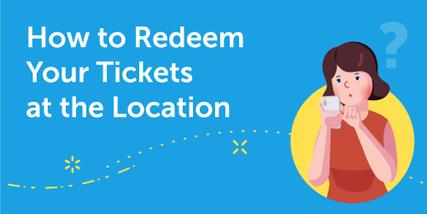 Finding ticket redemption instructions and QR code