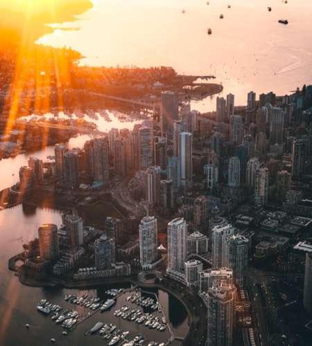 Vancouver nhin tu tren cao