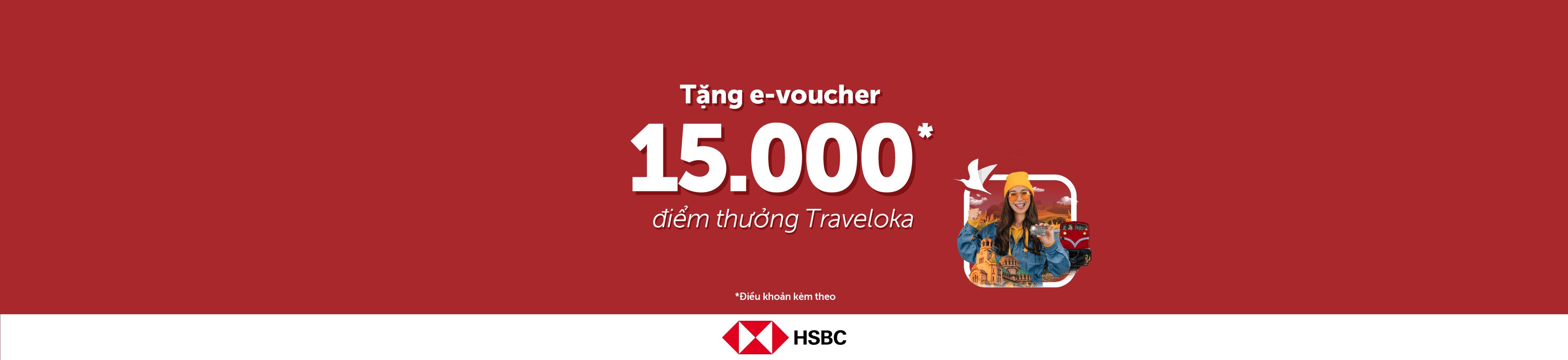 Traveloka - Hưởng đặc quyền chỉ có khi mở thẻ tín dụng HSBC Bạch Kim