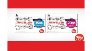 Europe, Asia, and Australia Roaming Plan Sim Card (Malaysia Pick Up) by Tune Talk, RM 28.20