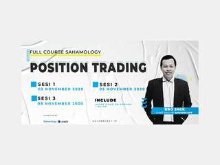 [Full Course] Position Trading (Sahamology) - Online Class, RM 142.10