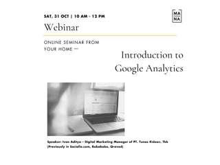 Introduction to Google Analytics - Online Class (Webinar by Mana Class), RM 56.84