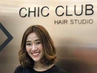 Chic Club Hair Studio Siam Square One, THB 450