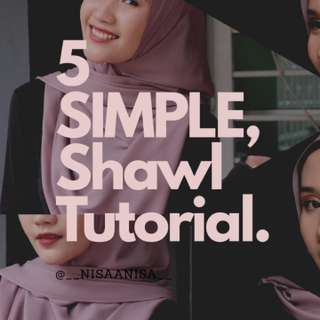 5 Simple Shawl Looks, RM 10