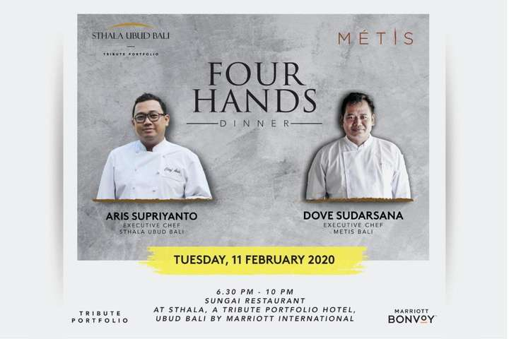 Sthala Ubud Presents Four Hands Dinner Special Promotion At Traveloka Xperience
