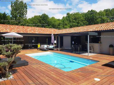 Location de vacances en villa pour 6 personnes à Soustons(40) avec piscine