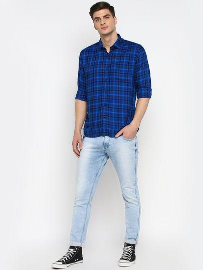 Classic Royal Blue Check Full Sleeve Shirt