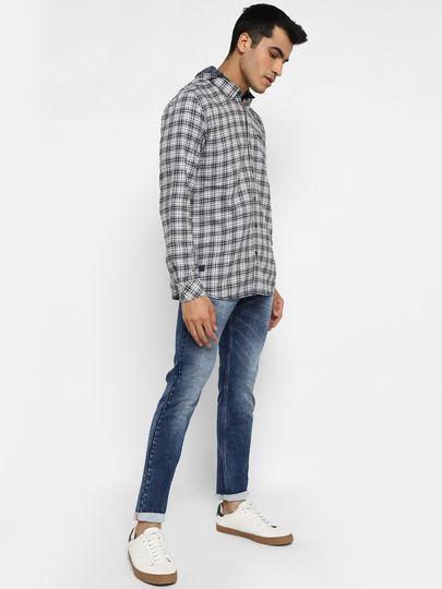 Grey Checked Hood Shirt
