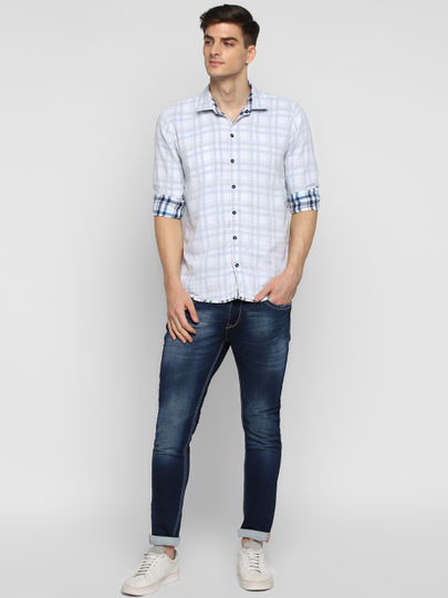 Blue Checked Reversible Shirt