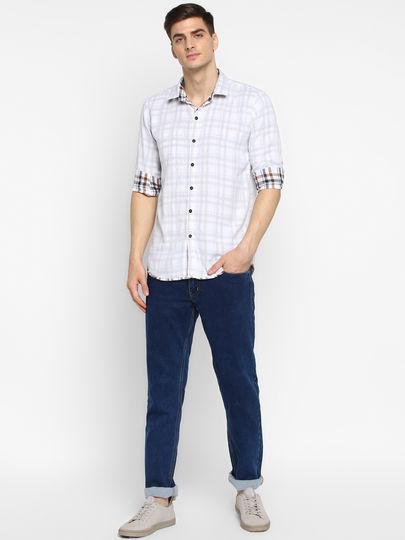 Maroon Checked Reversible Shirt