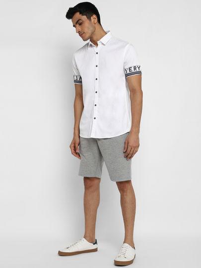 White Printed Sleeves Shirt