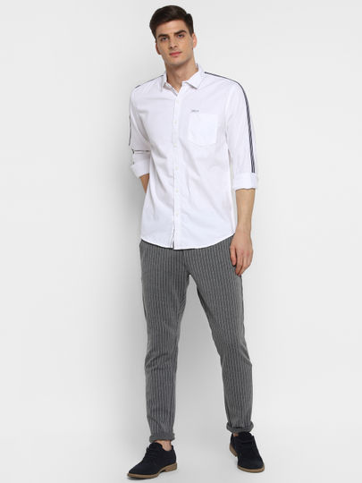 White Tape Detail Shirt