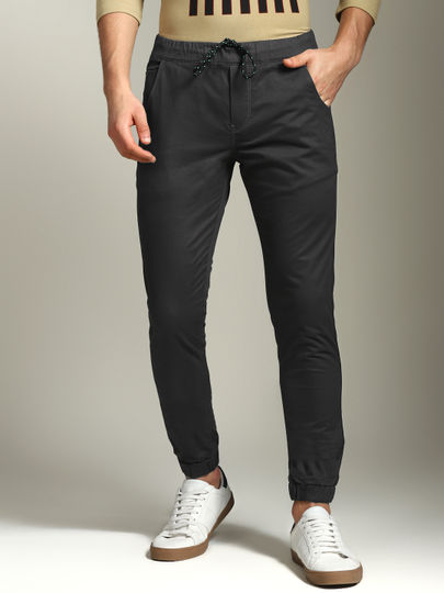 Dark Grey Solid Joggers
