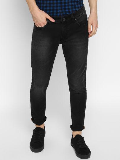 Black washed Slim fit jeans